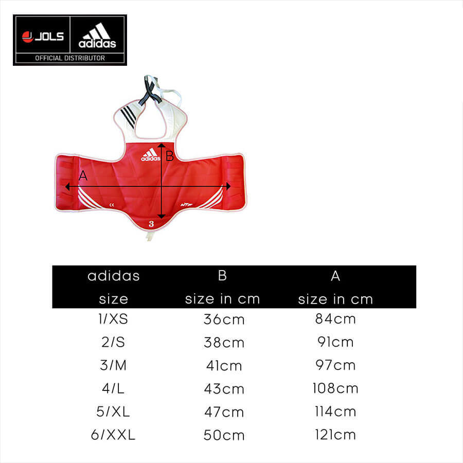 Adidas Body Protector Size Chart
